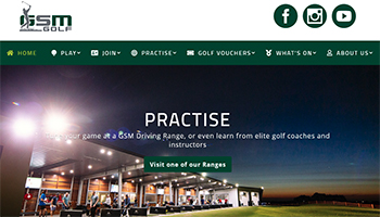 GSM Golf website